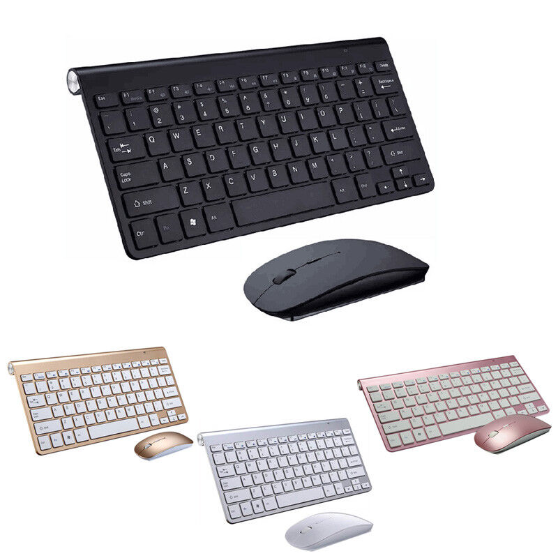 ultra slim 2 4ghz wireless keyboard with mouse mice kit set for pc computer new ebay. Black Bedroom Furniture Sets. Home Design Ideas