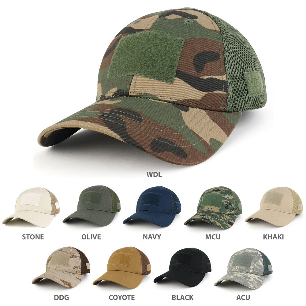 13947b09498 Details about Low Crown Air Mesh Tactical Cap with Loop Patch - FREE SHIP