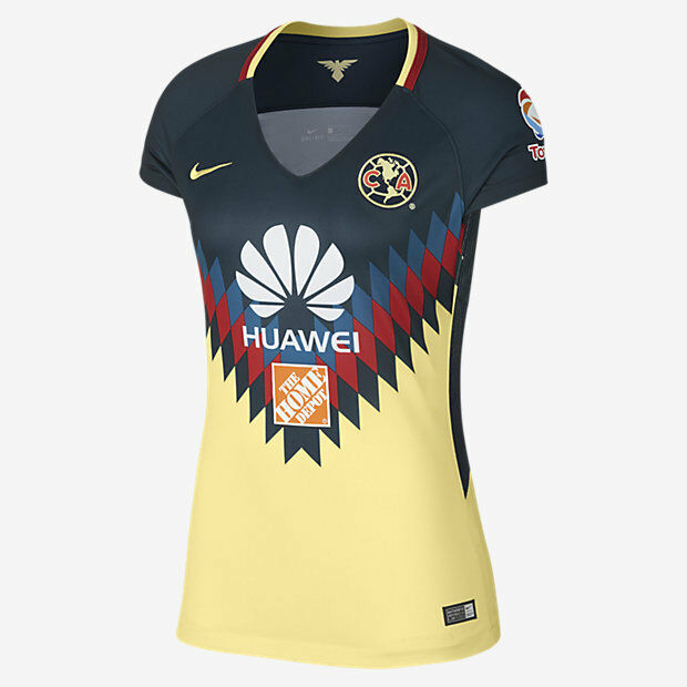 9d5aa0a3e Details about NIKE CLUB AMERICA WOMEN S HOME JERSEY 2017 18.