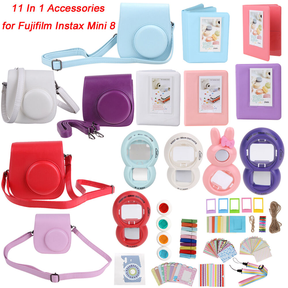 11532b47ed0ed8 Details about 7 9 11 In 1 Instant Film Camera Accessory Set Bundles for Fujifilm  Instax Mini 8