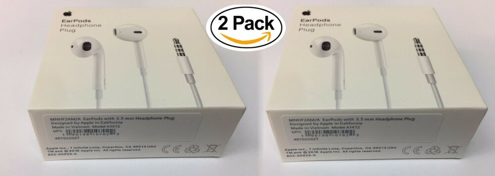 Apple Wired Headset Earpods Plug for devices with a 3.5mm Headphone Jack A1472 190198107022 | eBay
