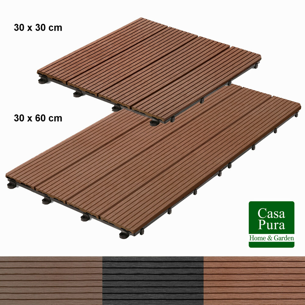 Details About Wpc Decking Tile Interlocking Wood Garden Patio Boards Paving Deck Tiles