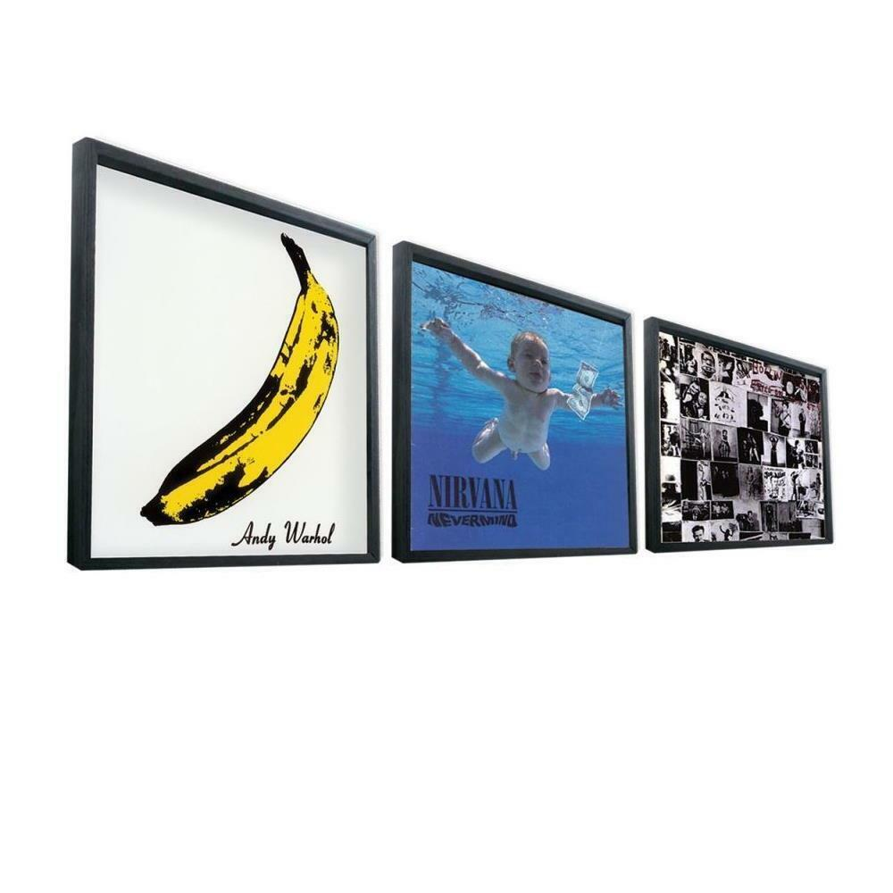 12 record frame black vinyl lp record artwork sleeve retro display music gift ebay. Black Bedroom Furniture Sets. Home Design Ideas