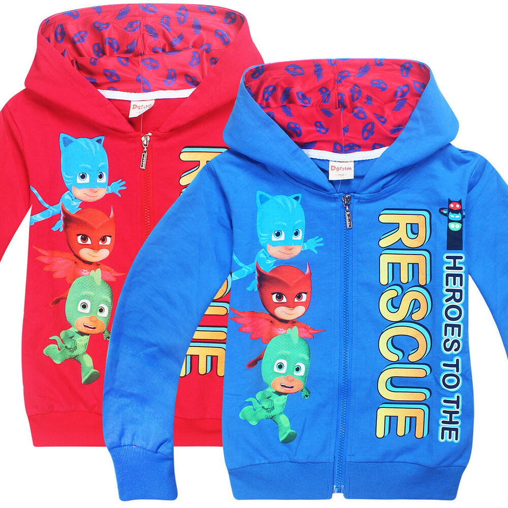 PJ MASKS boys gilrs clothing top hoodie thin jacket tracksuit outfit ...