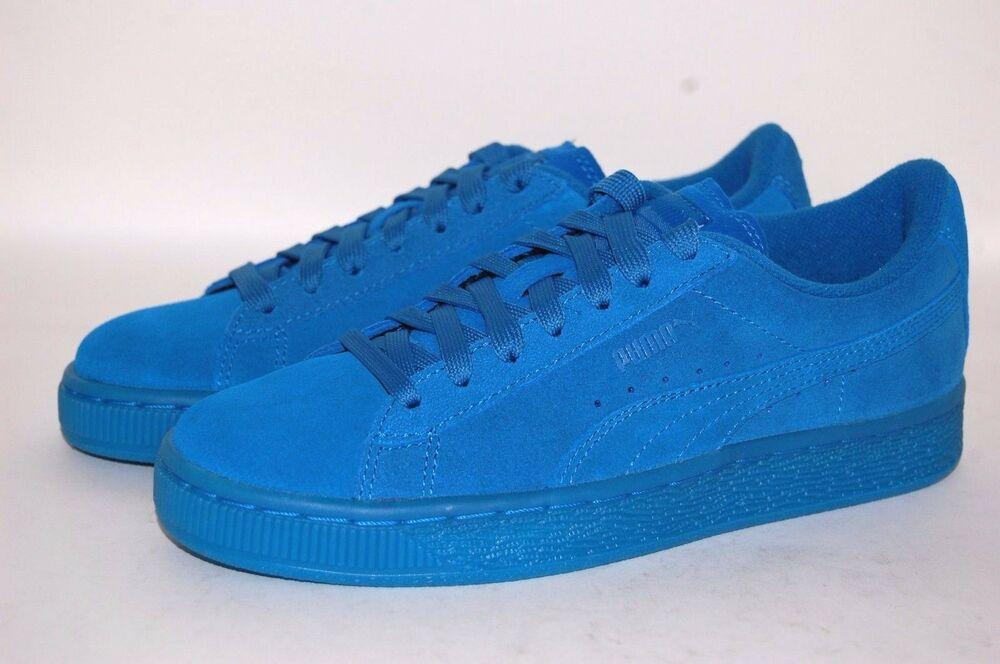 57765f9b0b30 Puma suede Iced Jr 361937-06 Mykonos Blue Women Junior Shoes