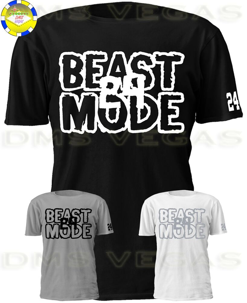 dd089f6c Details about Oakland Raiders Marshawn Lynch BEAST MODE MID 24 Jersey Tee  Shirt Men Size S-5XL