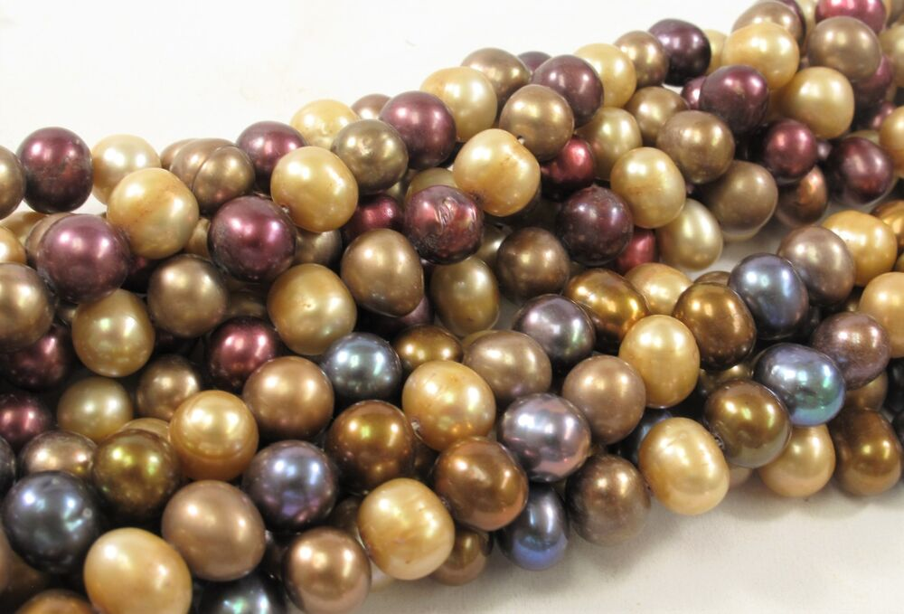 #551 Mixed Color Potato Pearls 7-8mm Multi Color Potato Freshwater Pearl Beads