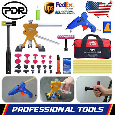 US PDR Tools Dent Puller Lifter Paintless Dent Repair T Bar Glue Gun Removal Kit