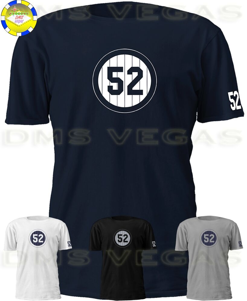 save off 94387 621be New York Yankees CC Sabathia Striped 52 Jersey Tee Shirt Men Size S-5XL |  eBay