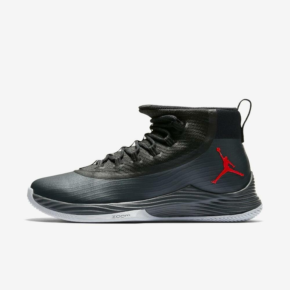 a52e6ba9f66 Details about JORDAN ULTRA FLY 2 897998 002 BLACK ANTHRACITE-WOLF GREY-UNIVERSITY  RED-ZOOM AIR