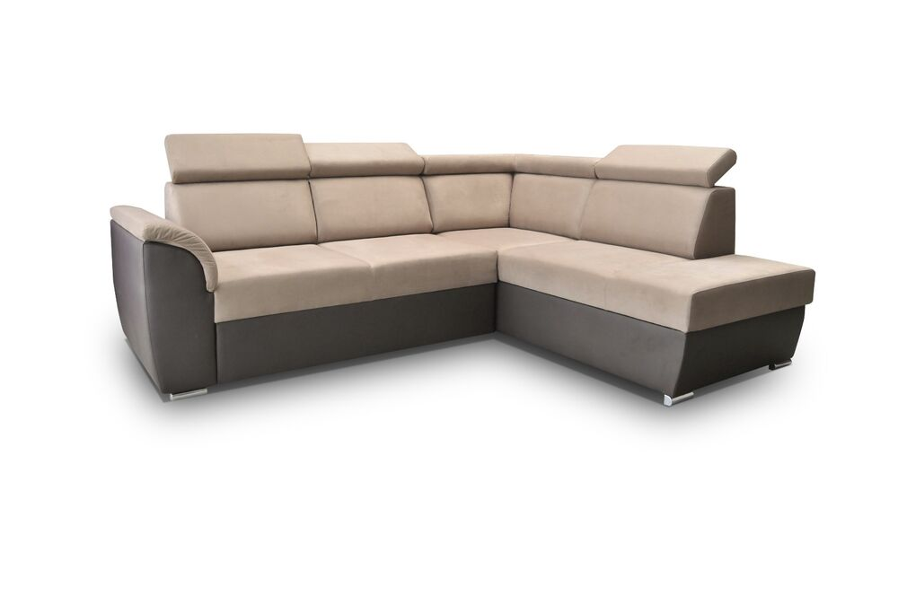 ecksofa eckcouch mit schlaffunktion couchgarnitur xxl braun design modena ii ebay. Black Bedroom Furniture Sets. Home Design Ideas