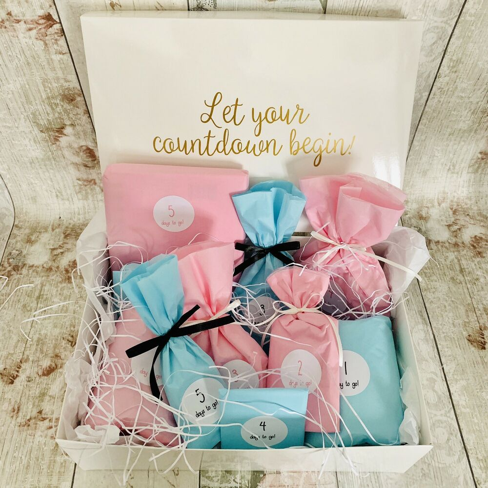 Bride and Groom Wedding Countdown Gift Box Hamper Bride To Be Advent ...