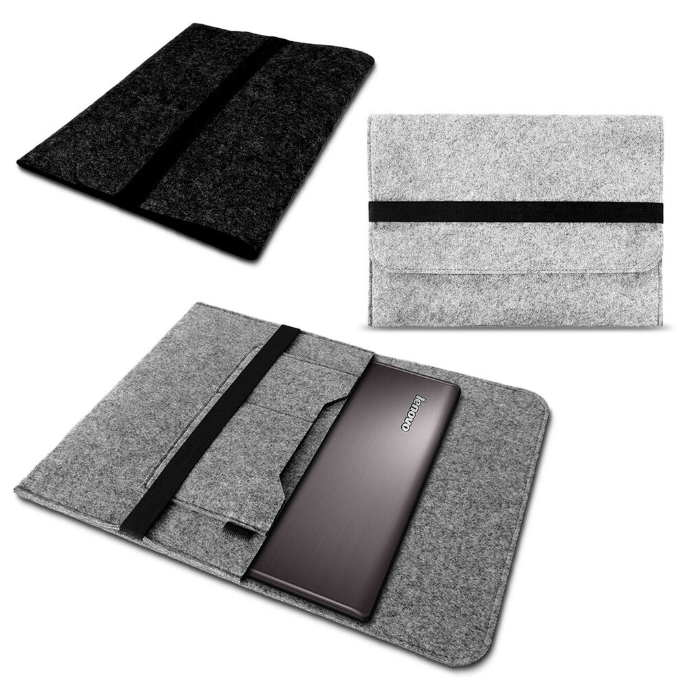 tablet tasche f r lenovo yoga 520 14 zoll grau h lle filz. Black Bedroom Furniture Sets. Home Design Ideas