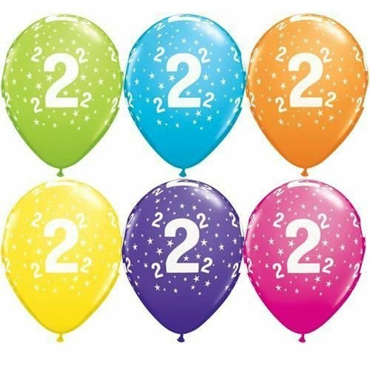 Details About Birthday Balloons Age Number Latex 1 2 3 4 5
