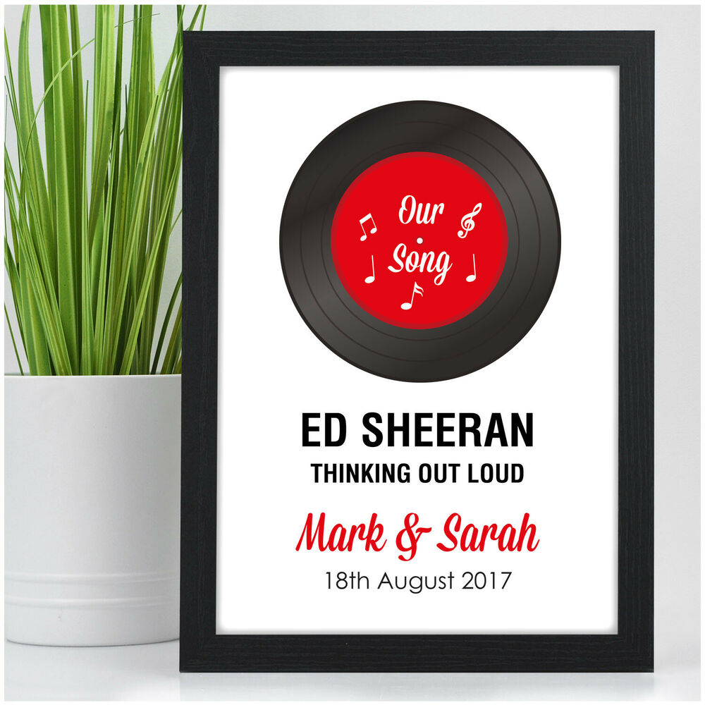 2nd Wedding Anniversary Gifts Uk: First Dance Record Print