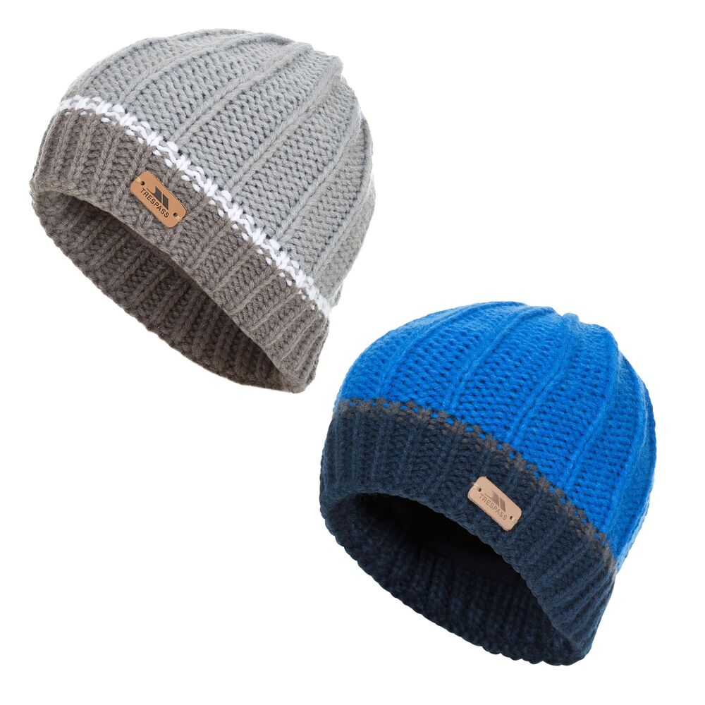 3afdb3ae4a6 Details about Trespass Mufasa Boys Knitted Beanie Winter Casual Hat for  School