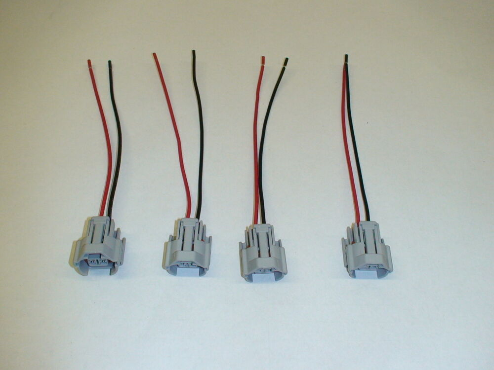 4 new fuel injector wiring pigtails for bosch 210lb 2200cc   id2000   fic2150 ebay