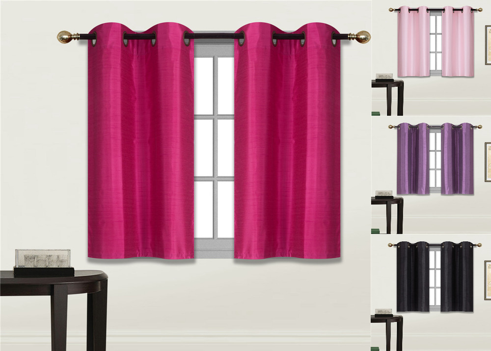 Details About 2 PANELS Bedroom Half Window Curtain KITCHEN WINDOW TIER 36 LENGTH N25