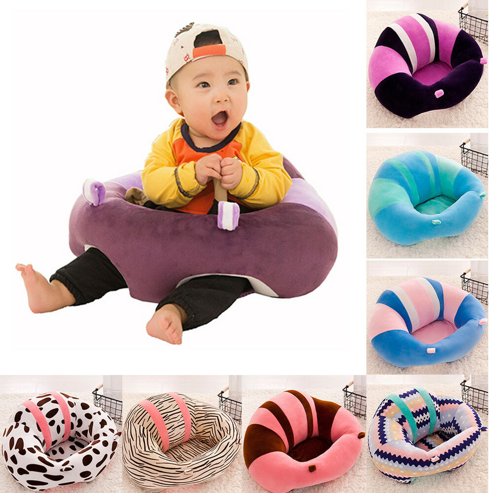 soft infant sitting chair baby floor seat support cushion protective pillow ebay. Black Bedroom Furniture Sets. Home Design Ideas
