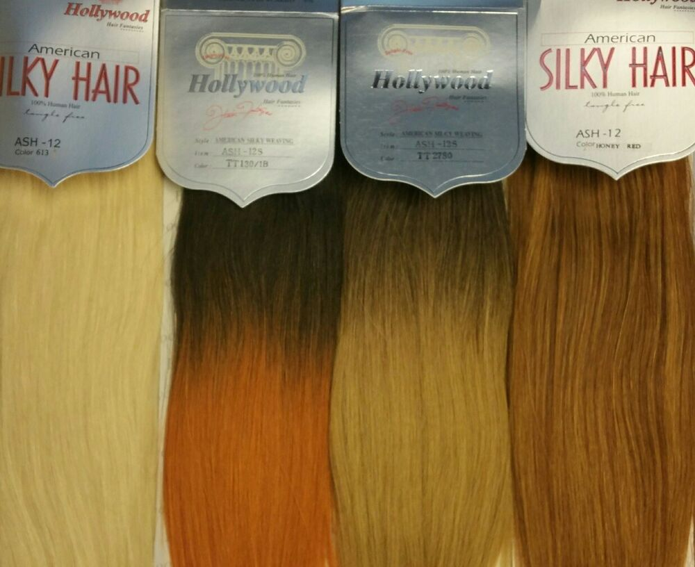 Hollywood 100 Human Hair For Weaving American Silky Hair Free
