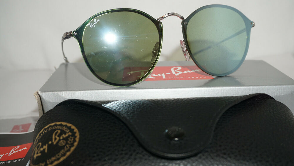 35ba3d5966 Details about RAY BAN New BLAZE ROUND Sunglasses Silver Dark Green Silver  RB3574N 003 30 59