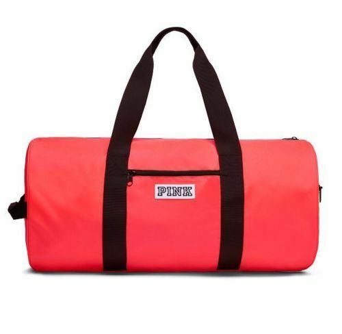 3aac5f0bb73e Details about Victoria s Secret PINK Weekender Duffel Getaway Vacation Gym  Tote Bag Neon Red