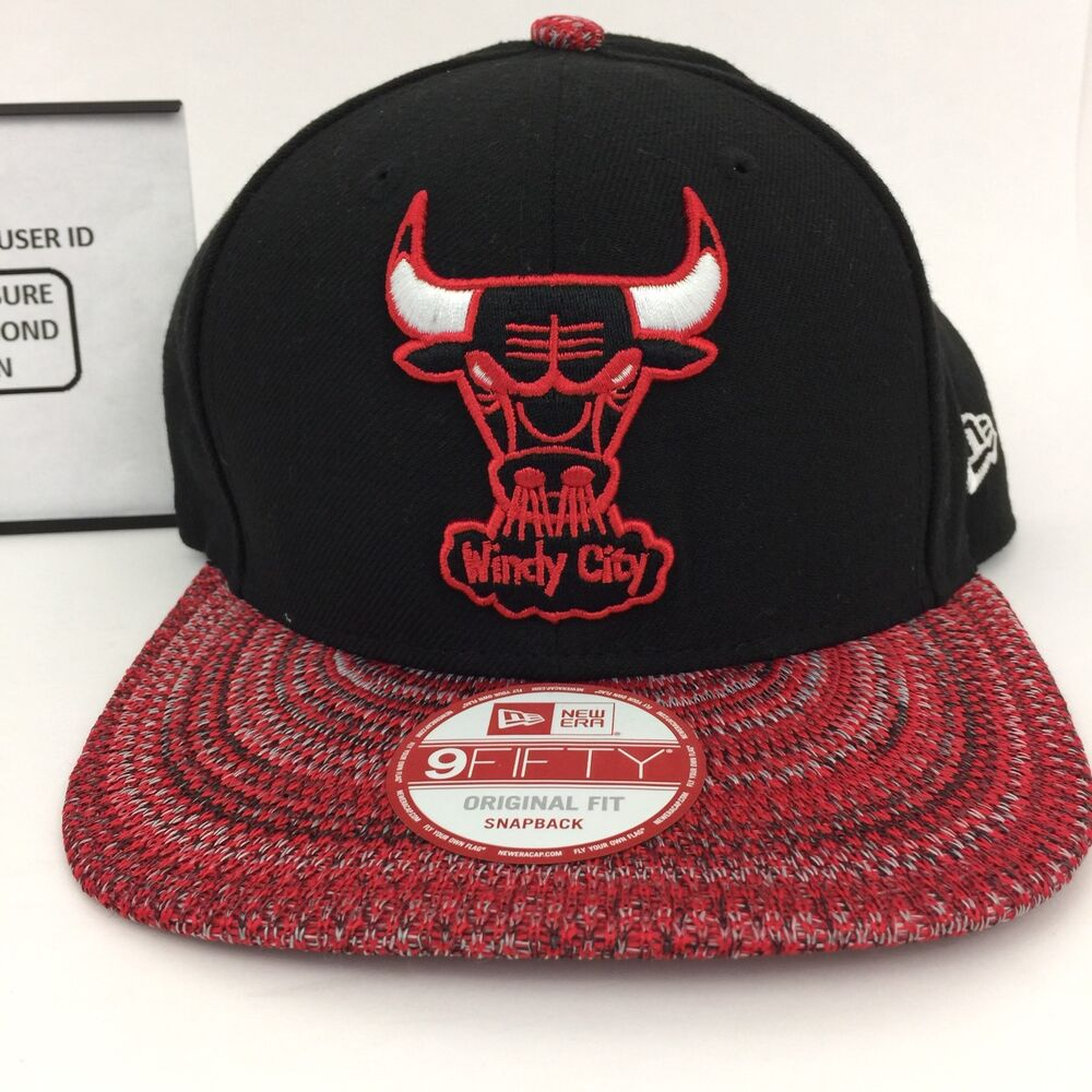 0f3e058ce15 Details about Chicago Bulls Windy City New Era Snap Back Hat Cap 9Fifty  Original BLACK  32