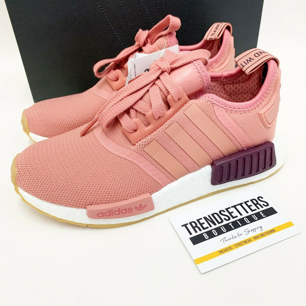 88a86888405e7 Details about ADIDAS NMD RAW PINK US UK 3 4 5 6 7 8 9 .5 R1 GS WOMENS SIZE  WHITE GUM PK SOCK