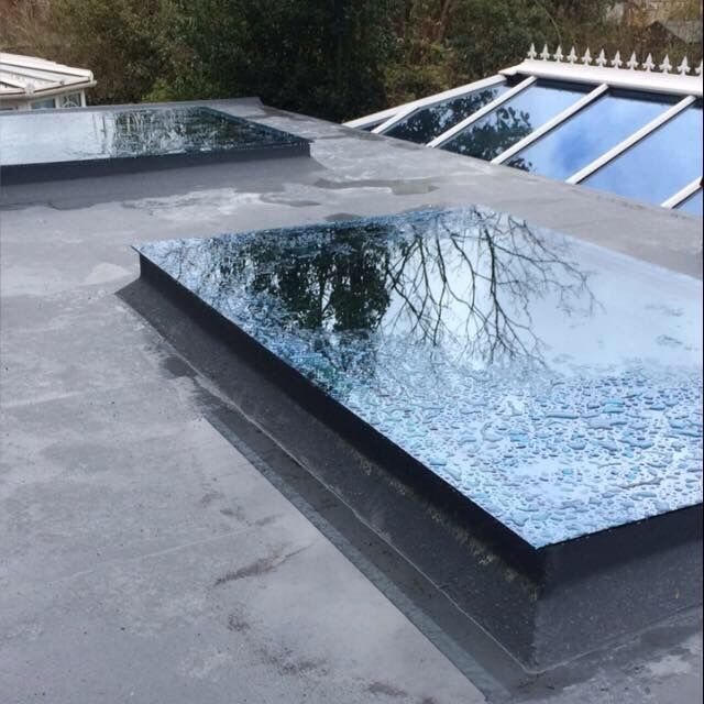 Aluminium Roof Lantern Skylight And Flat Roof Skylight: Skylight Flat Roof Rooflight Double Glazed Self Clean
