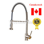 Brushed Nickel Kitchen Faucet Pull Out Sprayer Swivel Spout Sink Mixer Tap