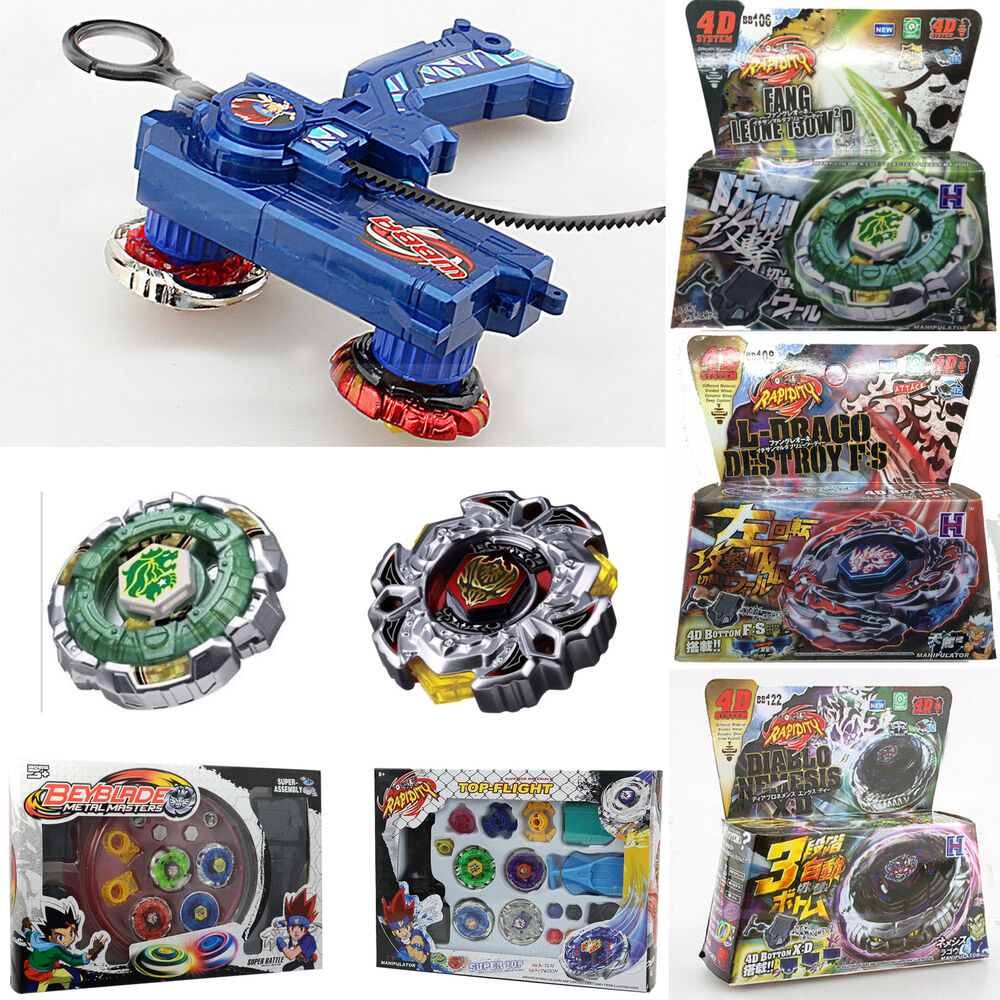 4d beyblade launcher grip fusion top metal master rapidity