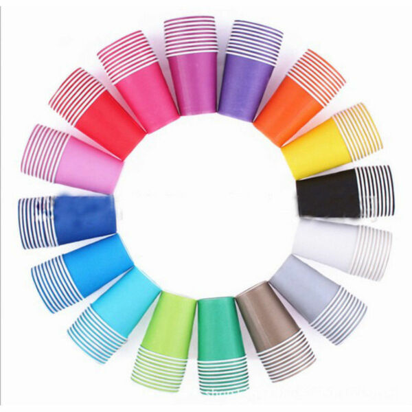 Festival Paper Cups Solid Colorful Celebration 10pcs DIY Birthday Party Supplies