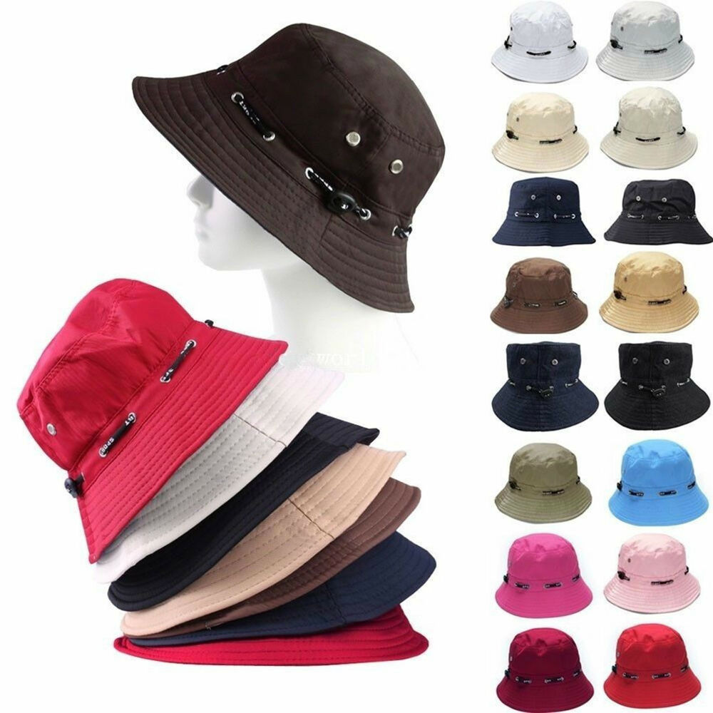 f892d04ea43 Details about Unisex Bucket Hat Hunting Fishing Outdoor Cap Men s Summer  Sun Hats