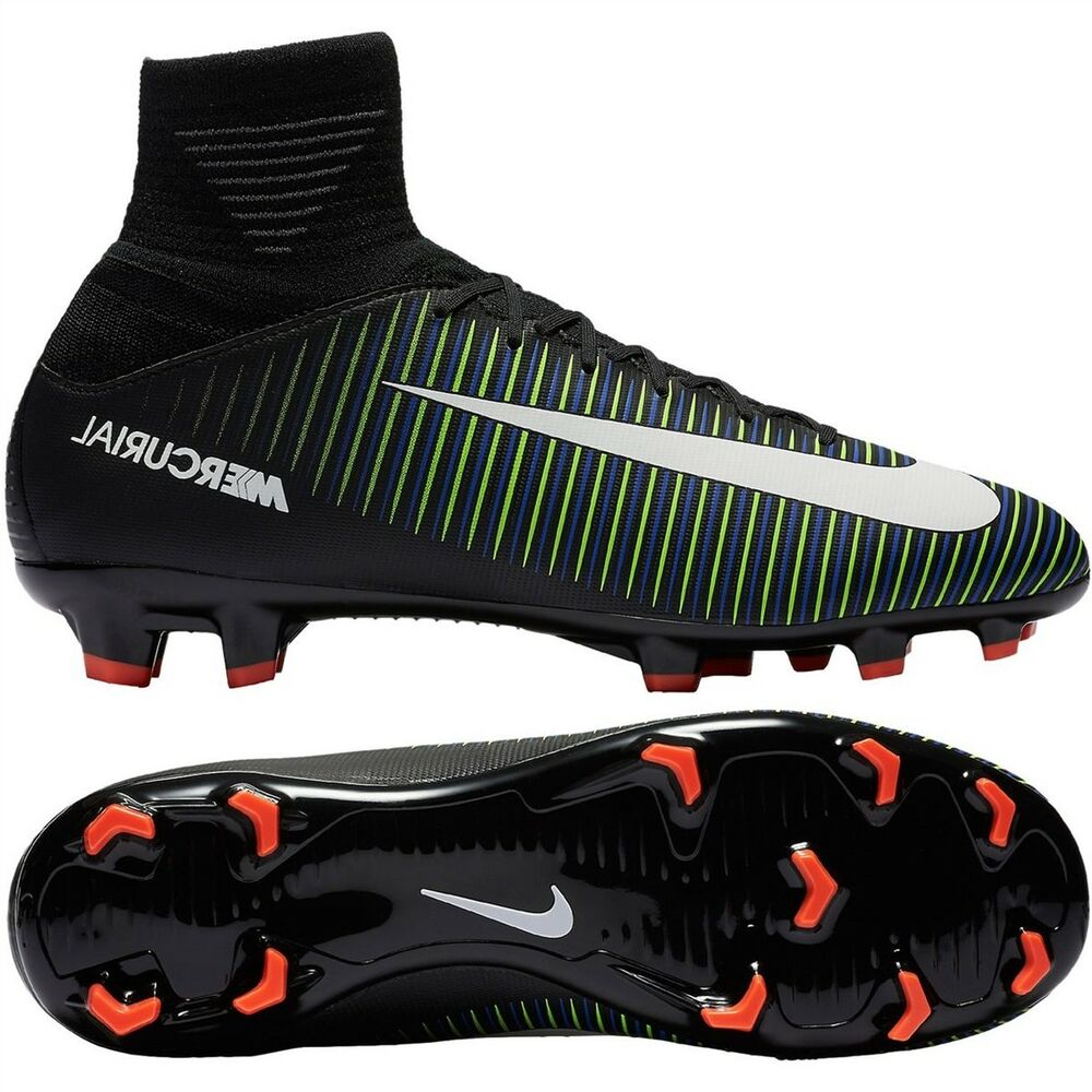 6ba2db696570 Details about New Jr Nike Mercurial Superfly V FG Soccer Football Cleats Sz  5 Youth Black Blue