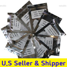 1000 PCS ROUND CLEAR CUBIC ZIRCONIA/CZ 5A QUALITY  1,00 - 3.00 MM SHIP IN U.S.A