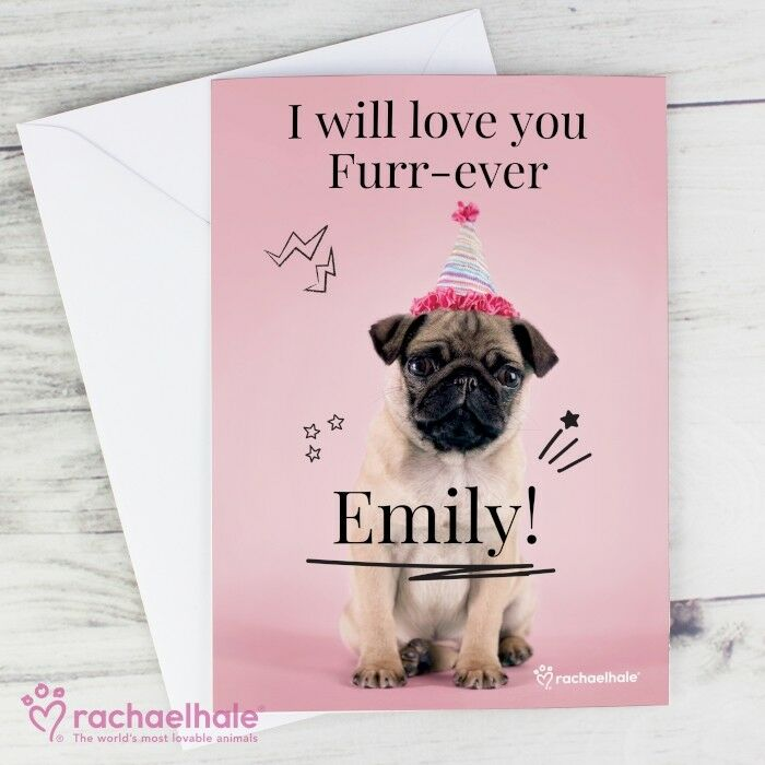 Details About Personalised Pug Dog Card Doodle Birthday Childrens