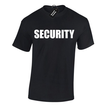 img-SECURITY MENS T SHIRT FUNNY FANCY DRESS BOUNCER TOP BIG SIZES S - 5XL