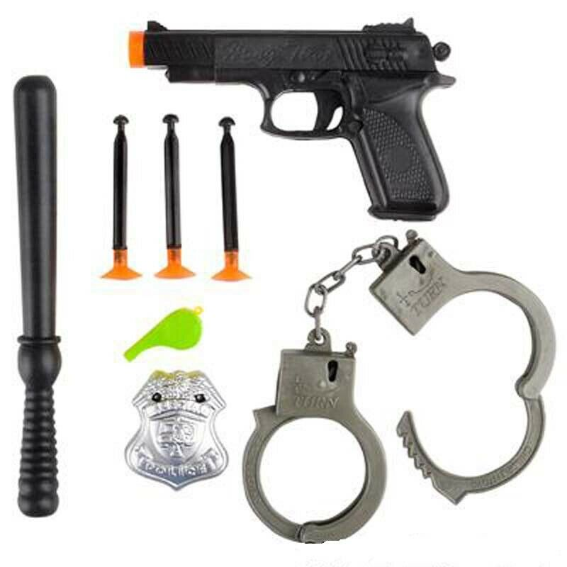 Details about 8 Piece Police Set fun toys children gift novelty collectables