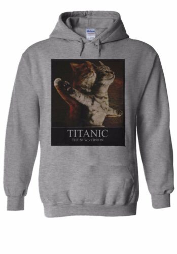 Titanic Funny Cats New Version Hoodie Sweatshirt Jumper Men Women Unisex 1249
