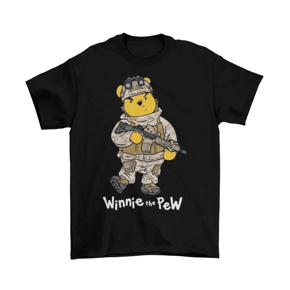 d494e4017ff4 Details about Winnie the Pew T-Shirt Unisex Cotton Funny Disney Winnie the  Pooh New