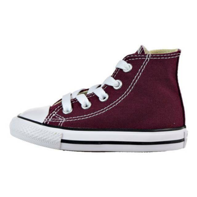6d202e8ef5a8d5 Details about Converse All Star Chuck Taylor 739784F Burgundy Toddler Shoes