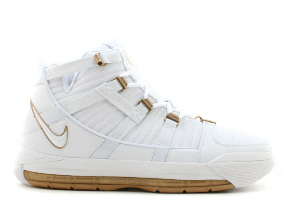 02c7260bd09 Details about Nike Zoom LeBron 3 III White Gold Size 11. 312147-114 cavs  mvp 1 2