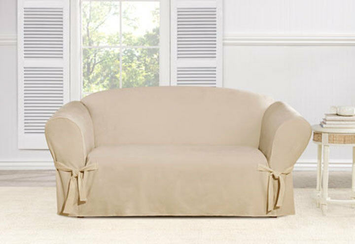 Sure Fit One Piece Everyday Chenille Loveseat Slipcover