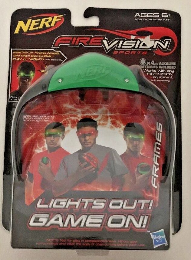 Nerf FireVision Sports Green Frames Glowing Lights Out Glasses ...