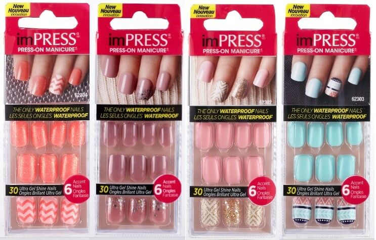 KISS ImPRESS GEL Press On Nails Short BRAND NEW SEALED PLEASE SELECT 1