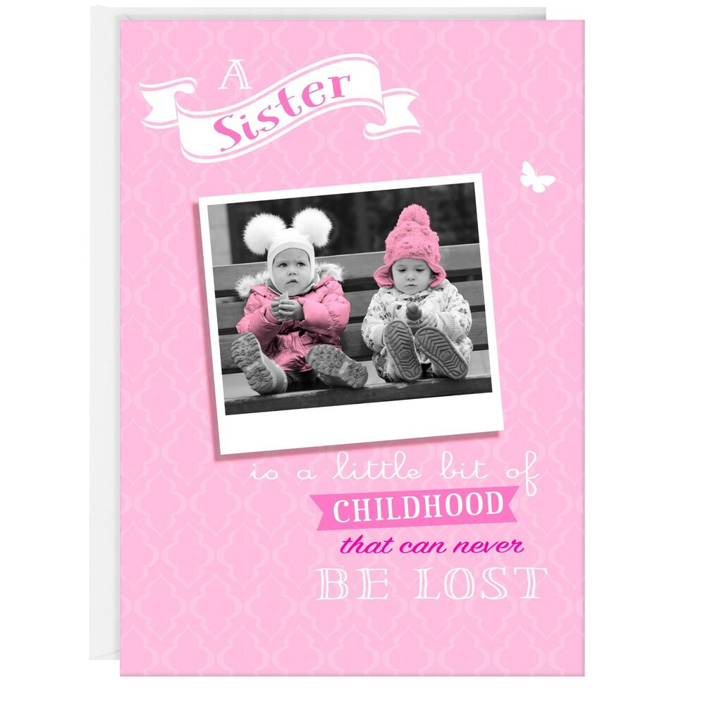 Details About SISTER BIRTHDAY GREETING CARD