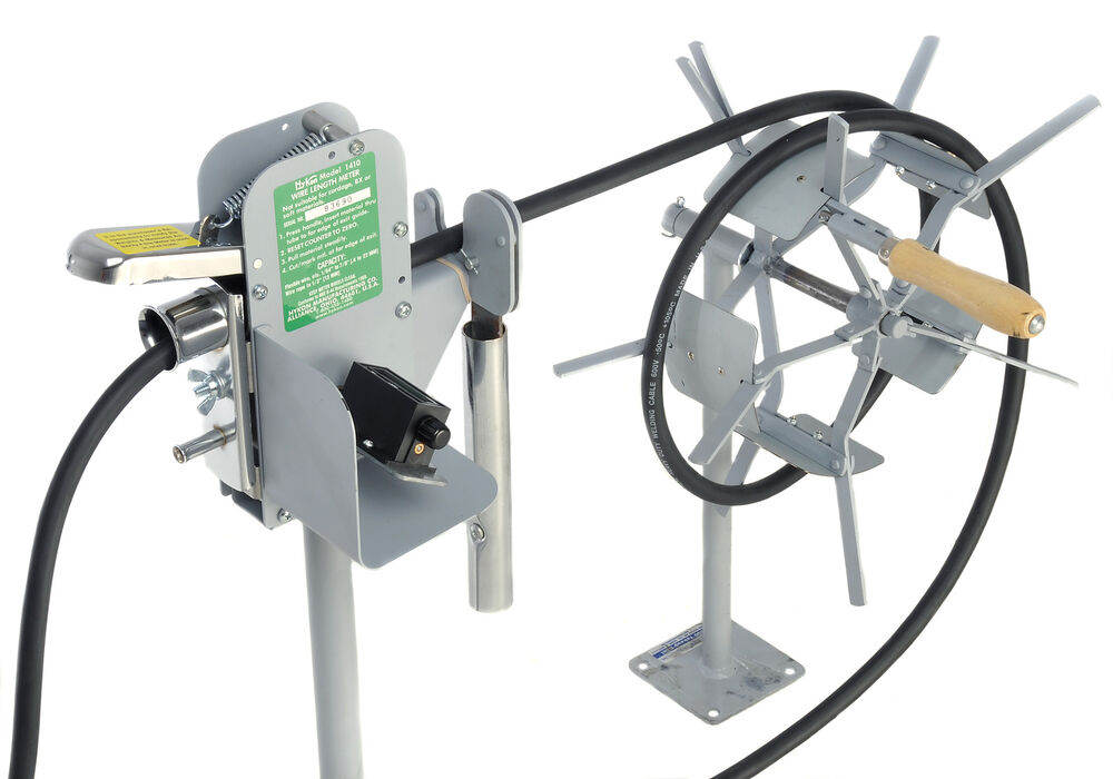 Cable Length Measuring Equipment : Hykon olympic benchtop measure counter cutter coiler meter