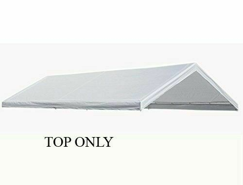 10 X20 Canopy Replacement Cover White Tarp Top Only