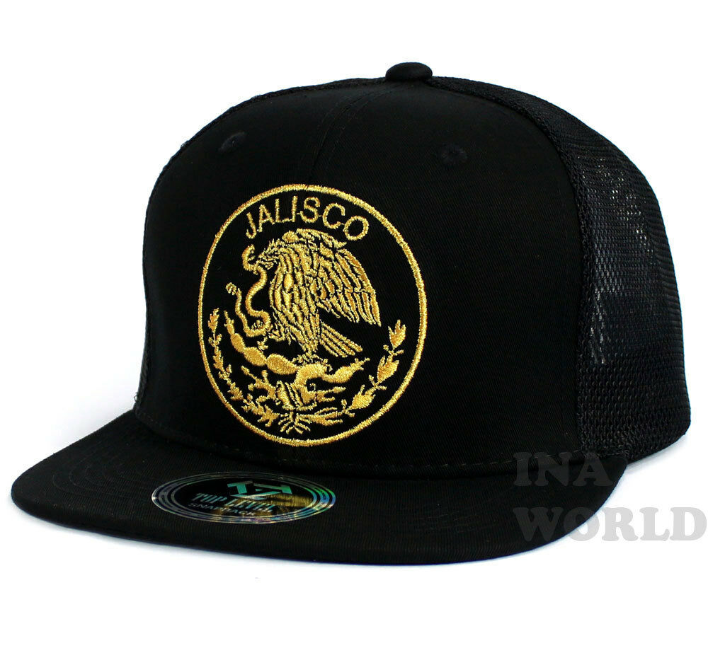 875875c484a MEXICAN hat Mesh Snapback MEXICO Federal State Flat bill Baseball cap-  JALISCO