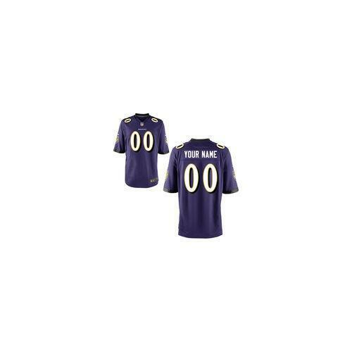 c83e60abf67 Details about  70 Baltimore Ravens Nike Youth Custom Game Jersey - Purple